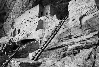 Usa, Colorado, Mesa Verde, Ladder House Poster