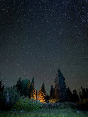 Usa, Colorado Night Sky At Lost Lake Poster by Jaynes Gallery