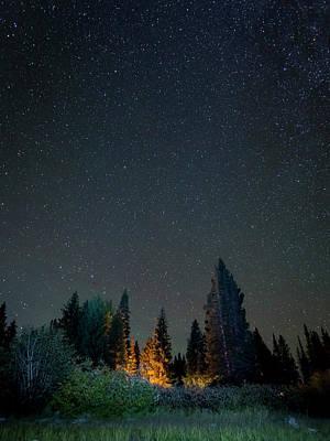 Usa, Colorado Night Sky At Lost Lake Poster