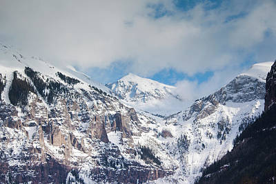 Usa, Colorado, Telluride, Ajax Peak Poster by Walter Bibikow