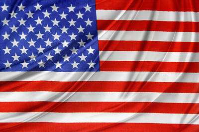 Usa Flag Poster by Les Cunliffe