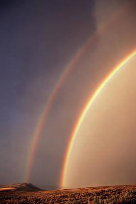 Usa, Idaho, Double Rainbow Poster