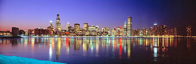 Usa, Illinois, Chicago, Night Poster by Panoramic Images