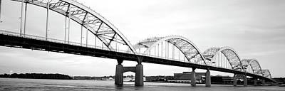 Usa, Iowa, Davenport, Centennial Bridge Poster by Panoramic Images