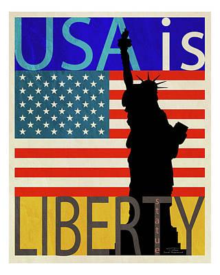 Usa Is Liberty Poster by Joost Hogervorst