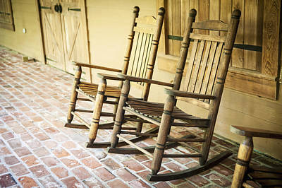 Usa, Louisiana, Rocking Chairs Poster by Dosfotos