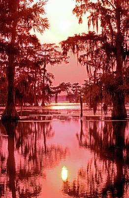 Usa, Louisiana Sunset On A Atchafalaya Poster