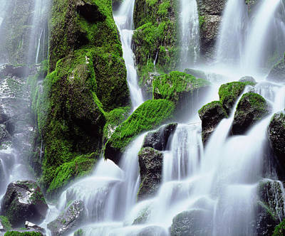 Usa, Oregon, Mount Hood, Ramona Falls Poster