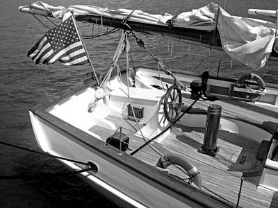 Poster featuring the photograph Usa Sailboat by Ellen Tully