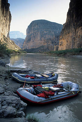 Usa, Texas, Rafting Boquillas Canyon Poster by Gerry Reynolds