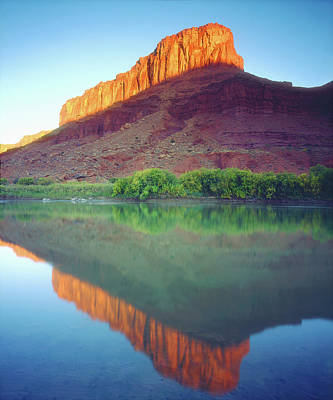 Usa, Utah, Sunlight On A Mesa Poster by Jaynes Gallery