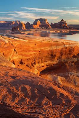 Usa, Utah Weathering Pit Ridge At Lake Poster