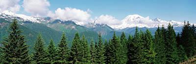 Usa, Washington State, Mount Rainier Poster by Paul Souders