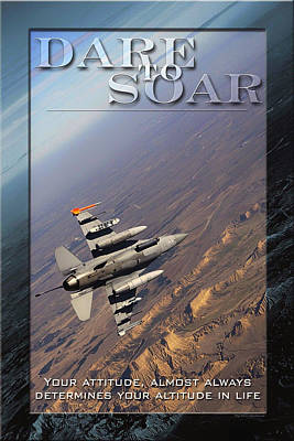 Usaf Dare To Soar Affirmation Poster Poster by Mountain Dreams