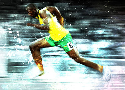 Usain Bolt Poster by Brian Reaves