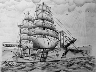 Uscgc Eagle Poster by Scott McIntire