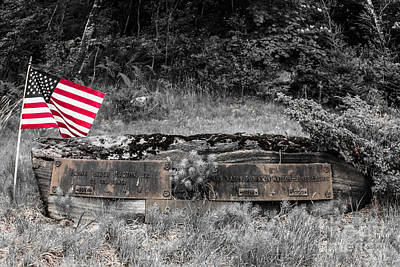 Poster featuring the photograph Usmc Veteran Headstone by Sherman Perry