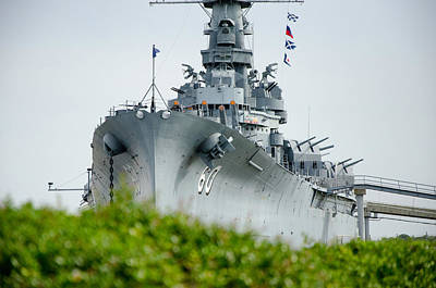 Poster featuring the photograph Uss Alabama 2 by Susan  McMenamin