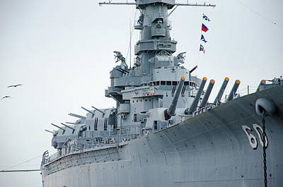 Poster featuring the photograph Uss Alabama 3 by Susan  McMenamin