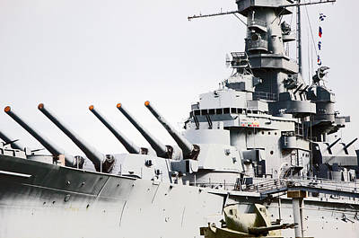 Poster featuring the photograph Uss Alabama by Susan  McMenamin
