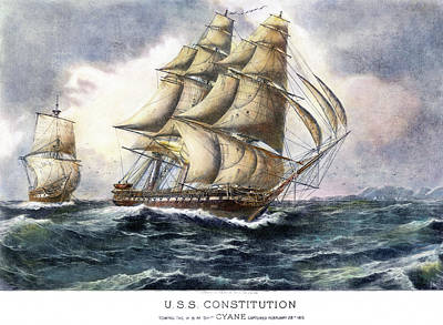 Uss Constitution, 1815 Poster by Granger