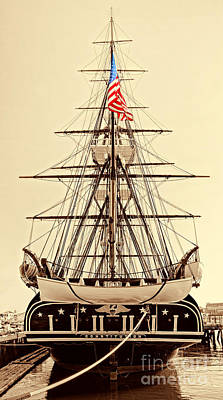 Uss Constitution Poster by Nigel Fletcher-Jones