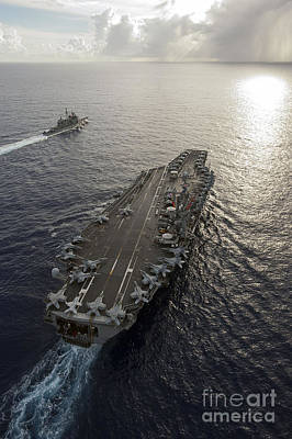 Uss George Washington And Uss Mobile Poster