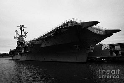 Uss Intrepid Aircraft Carrier At The Intrepid Sea Air Space Museum New York Poster