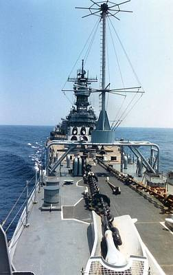 Uss Iowa At Sea Poster