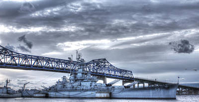 Uss Massachusetts Poster by Andrew Pacheco