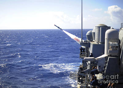 Uss Princeton Launches A Harpoon Poster by Stocktrek Images