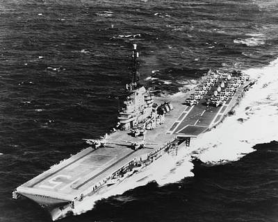 Uss Randolph Underway At Sea With Two Poster