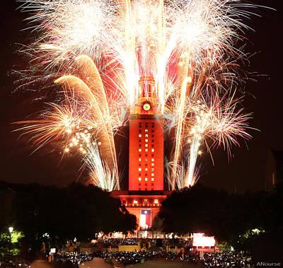 Ut Tower 2013 Fireworks Poster