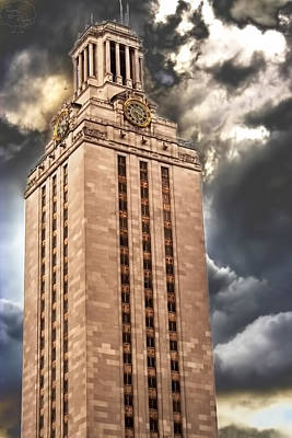 Ut Tower Poster by Tejas Prints