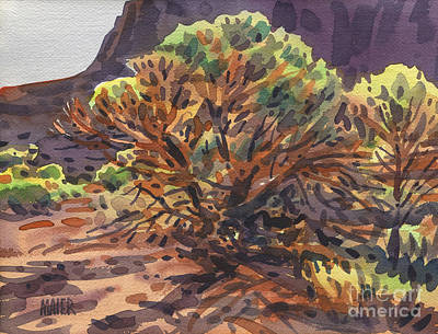 Poster featuring the painting Utah Juniper by Donald Maier