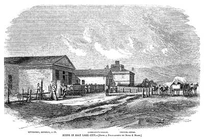 Utah Salt Lake City, 1858 Poster by Granger