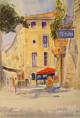 Poster featuring the painting Uzes France by Beatrice Cloake