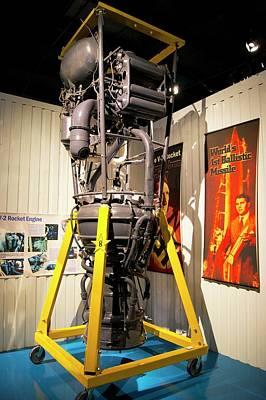 V-2 Rocket Engine. Poster by Mark Williamson