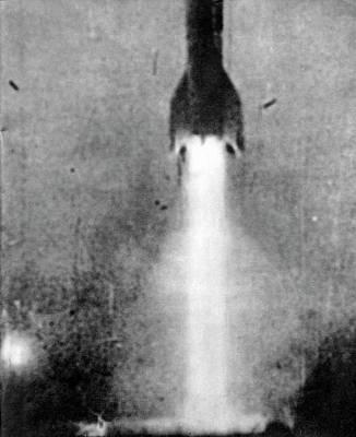 V-2 Rocket Launch Poster by Detlev Van Ravenswaay