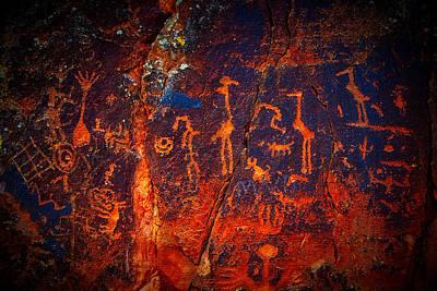 V-bar-v Petroglyphs Poster