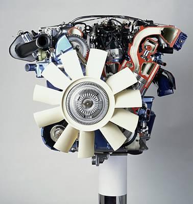 V12 Petrol Engine Poster