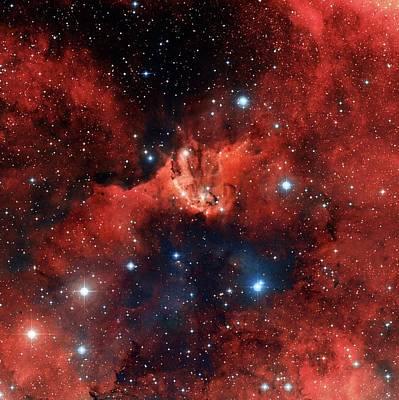 V1318 Cygni Star Cluster Poster