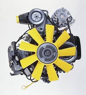 V6 12 Valve Engine Poster by Dorling Kindersley/uig