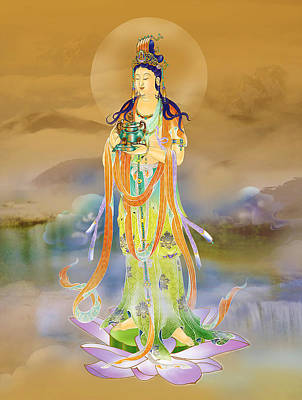 Poster featuring the photograph Vaidurya  Kuan Yin by Lanjee Chee