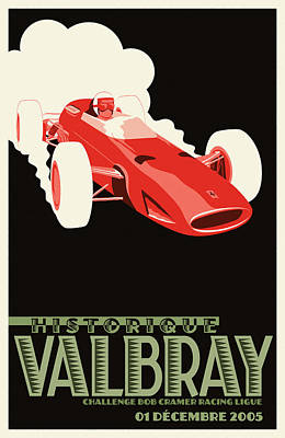 Valbray Historic Grand Prix Poster by Georgia Fowler