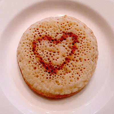 Valentine Crumpet Poster by Richard Reeve