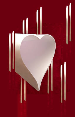 Valentine Paper Heart Poster by Gary Eason