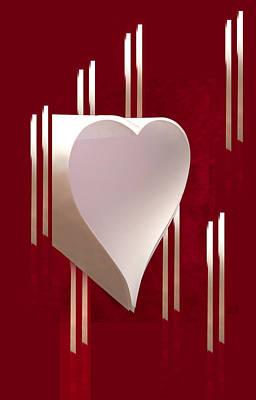 Valentine Paper Heart Poster