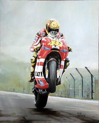 Valentino Rossi Ducati Poster by Rod Verity