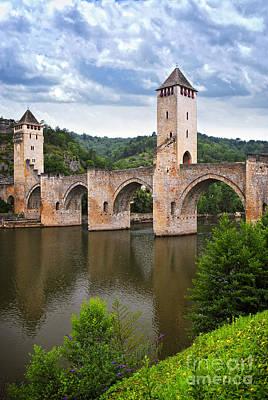 Valentre Bridge In Cahors France Poster